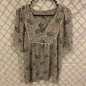 Patterned LOFT outlet Blouse